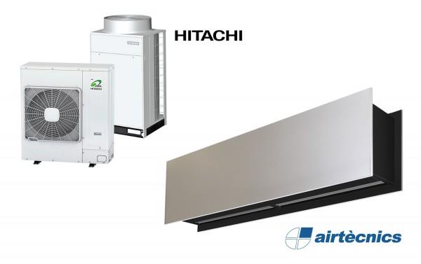 Rideau d'air Zen DX avec pompe à chaleur pour HITACHI