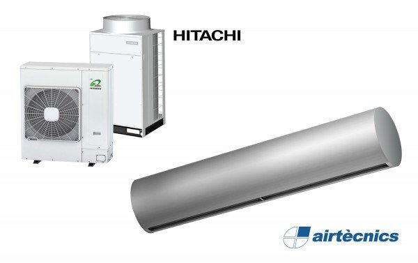 Rund DX varmepumpebasert luftgardin for HITACHI