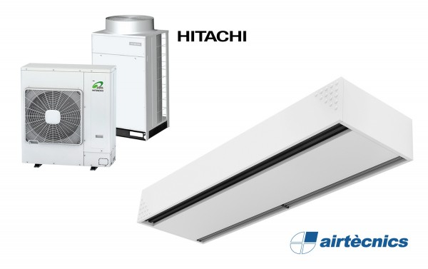 Rideau d'air Dam DX avec pompe à chaleur pour HITACHI