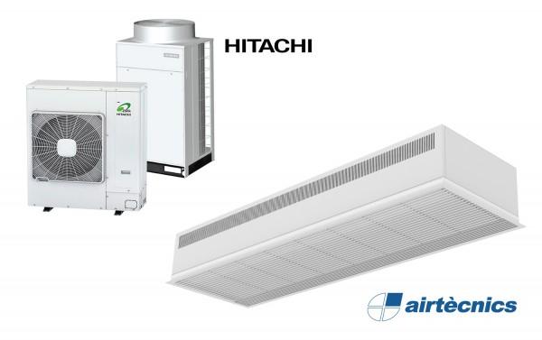 Rideau d'air encastré Dam DX avec pompe à chaleur pour HITACHI