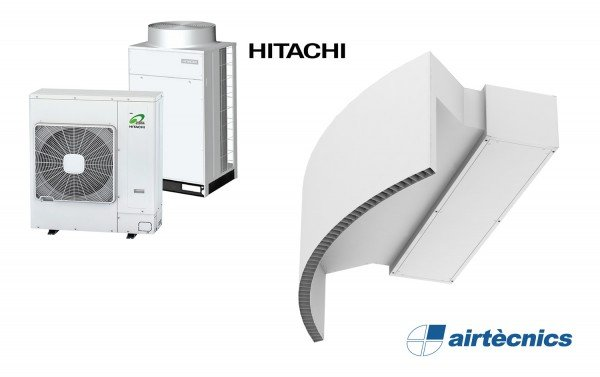 Rotowind DX varmepumpebasert luftgardin for HITACHI