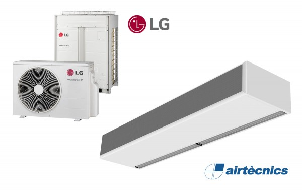 Heat Pump Air curtain Windbox for LG with LG Heat Pump