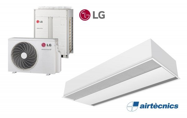 Windbox varmepumpebasert innfelt luftgardin for LG