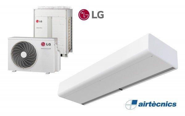 Cortina de ar Smart DX-LG com bomba de calor LG