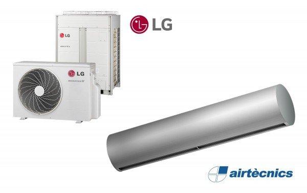 Cortina de ar com bomba de calor Rund DX para LG