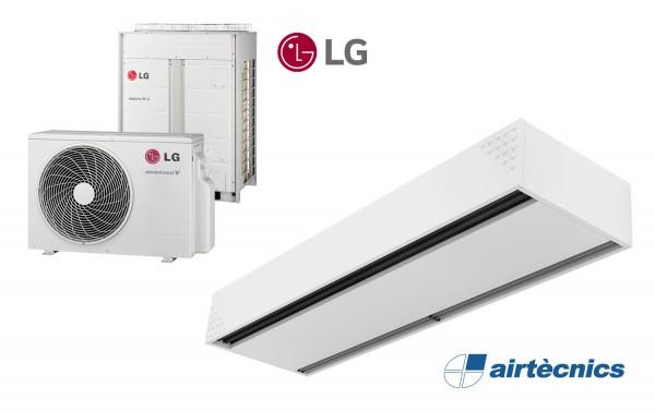 Rideau d'air Dam DX avec pompe à chaleur pour LG