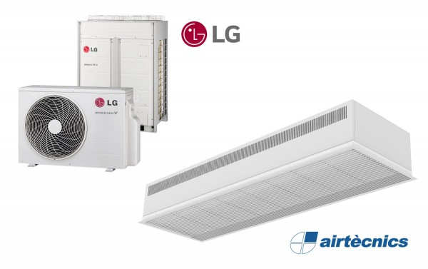 Встраиваемая Воздушная завеса Dam DX с Тепловым Насосом LG
