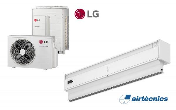 Rideau d'air Invisair DX avec pompe à chaleur pour LG