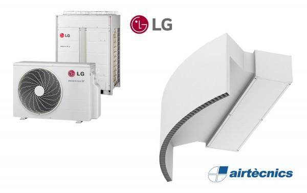 Barriera d'aria Rotowind DX in pompa di calore per LG