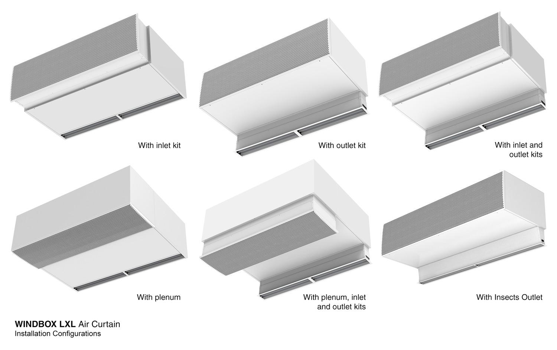 Air curtain Windbox L,XL