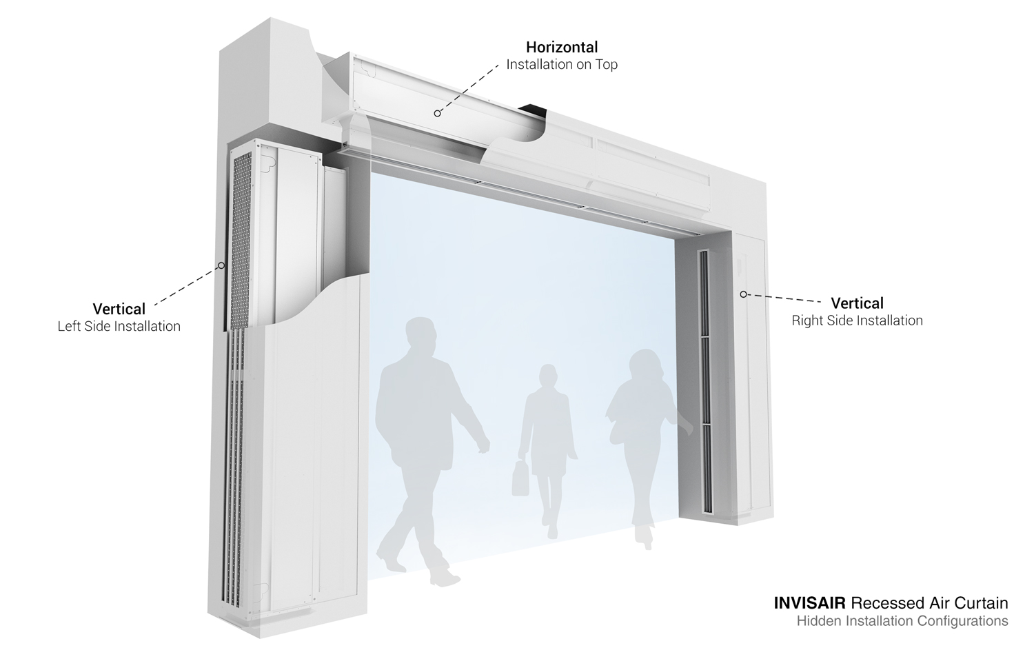 Air Curtain Invisair For Invisible Instalation