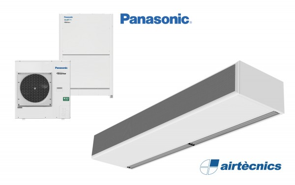 Cortina de aire Windbox DX para bomba calor PANASONIC