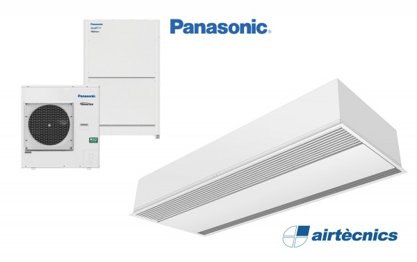 Heat pump air curtain Recessed Windbox DX for PANASONIC