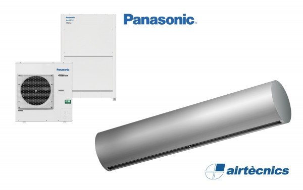 Barriera d'aria Rund DX in pompa di calore PANASONIC