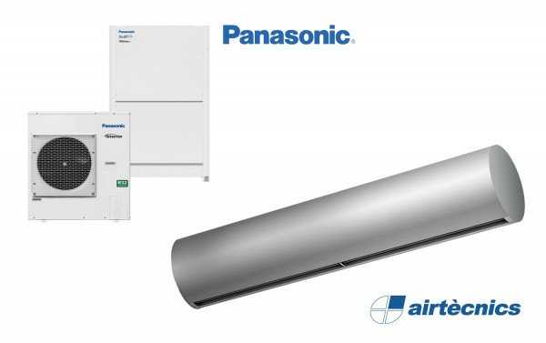 Heat pump air curtain Rund DX for PANASONIC