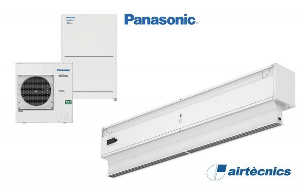Barriera d'aria Invisair DX in pompa di calore PANASONIC
