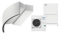 Heat pump air curtain Rotowind DX for PANASONIC