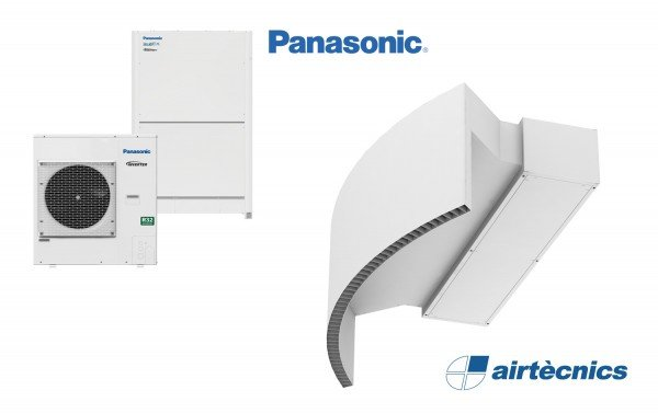 Rotowind DX luftgardin for varmepumpe PANASONIC