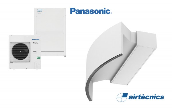 Barriera d'aria Rotowind DX in pompa di calore PANASONIC