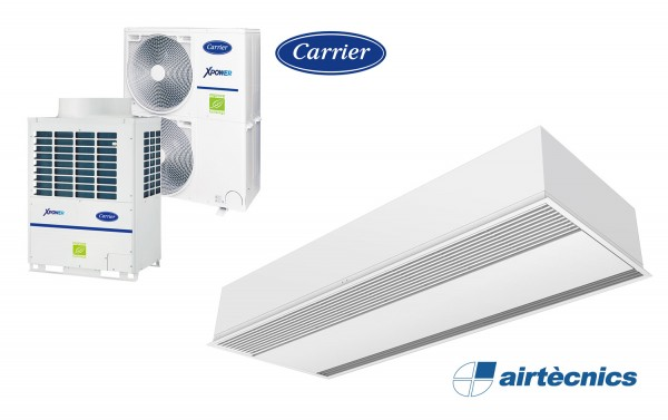 Heat pump air curtain recessed Windbox VRF for CARRIER