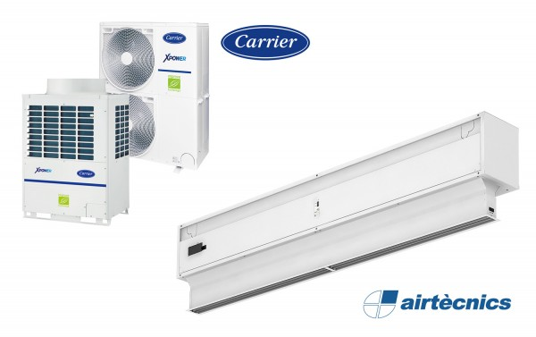 Barriera d'aria Invisair VRF in pompa di calore CARRIER