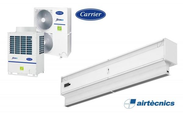 Invisair VRF Türluftschleier für Wärmepumpe CARRIER