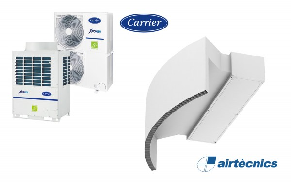 Barriera d'aria Rotowind VRF in pompa di calore CARRIER