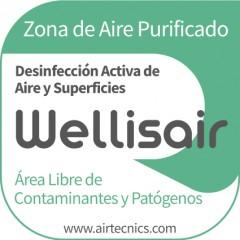 Wellisair - Pegatina Zona Purificada (JPG)