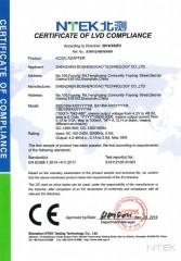 Certificado CE - LVD Adaptador de corriente