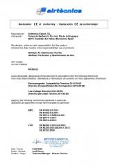 Declaracion conformidad Airtècnics Export - Wellisair