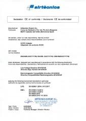 Declaracion conformidad Airtècnics Export - Transformador Wellisair