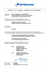 Declaracion conformidad Motors i Ventiladors - Wellisair