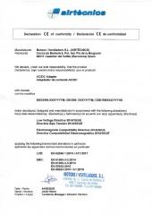 Declaracion conformidad Motors i Ventiladors - Transformador Wellisair