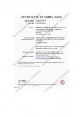 Certificado UL - Adaptador de corriente