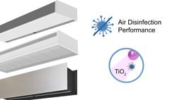 Cortina de ar com tecnologia Kleenfan fotocatalítica