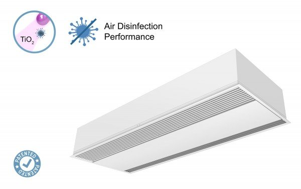 Air curtain Recessed Windbox with Kleenfan technology