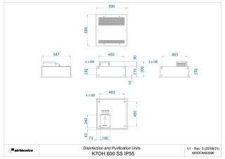 Dimensiones K7 600 SS IP55
