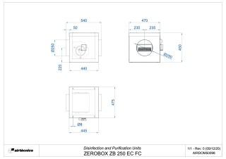 Dimensiones Zerobox ZB 250 EC FC