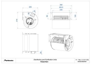 Dimensiones Kleenfan
