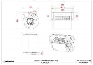 Dimensions Kleenfan