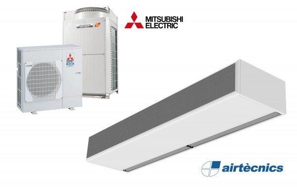 Oro užuolaida Windbox DX BB skirta Mitsubishi Electric šilumos siurbliui