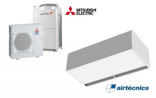 Barriera d'aria Windbox DX LXL in pompa di calore Mitsubichi Electric