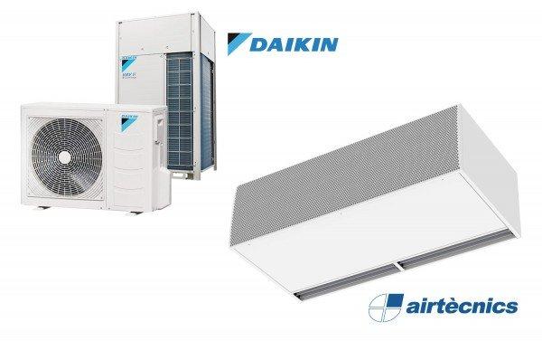 Oro užuolaida Windbox DX LXL skirta Daikin šilumos siurbliui