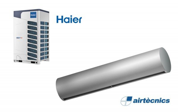 Cortina de ar com bomba de calor Rund DX para Haier