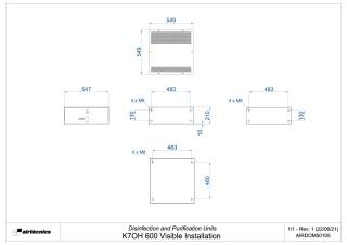 Dimensiones K7 600 Instalación Visible