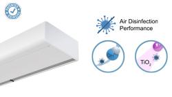 Vzduchová clona Smart s dvojí dezinfekční a čisticí technologií