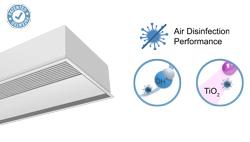 Zapuštěná vzduchová clona Windbox s technologií Wellisair a Kleenfan