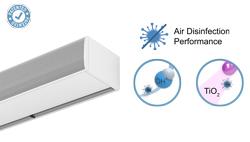 Vzduchová clona Kool s dvojí dezinfekční a čisticí technologií