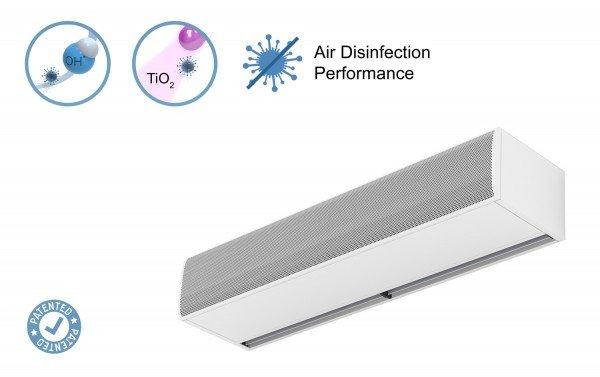 Barriera d'aria Kool con duplice tecnologia sanificante e purificante