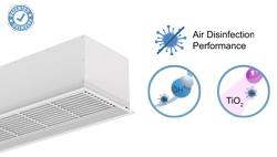 Zapuštěná vzduchová clona Compact s technologií Wellisair a Kleenfan
